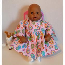 ballonjas roze babypop 46/48cm