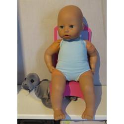 badpak blauw babypop 46/48cm