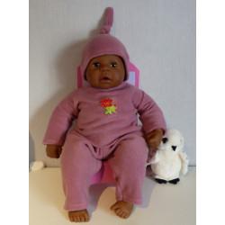 fleecepak oud roze babypop...