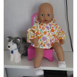 jas oranje bloemen babypop...