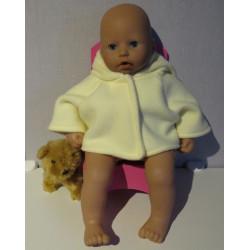 winterjas geel babypop 46/48cm