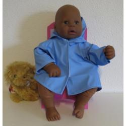regenjas blauw babypop 46/48cm