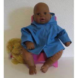 regenjas hard blauw babypop...