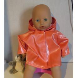 regenjas oranje babypop...