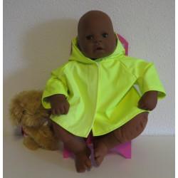 regenjas neon geel babypop...