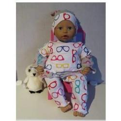 broek setje brillen babypop...