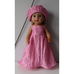 trouwjurk roze baby born 43cm