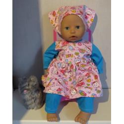 vrolijkejurk roze babypop...