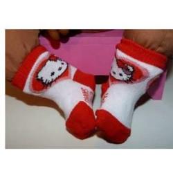 sokjes wit met rood hello...