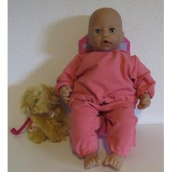 jogginspak roze babypop...