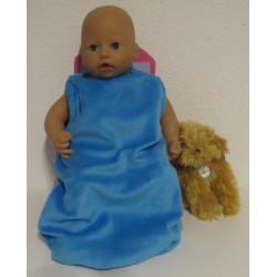 slaapzak blauw babypop 46/48cm