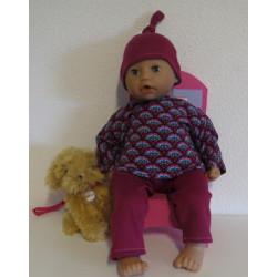 pyjama retro babypop 46/48cm