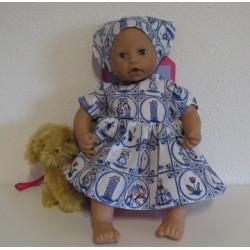 jurk holland babypop 46/48cm