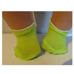sokjes groen voor poppen...