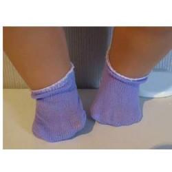 sokjes lila voor poppen van...
