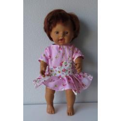 jurk roze met wit little...