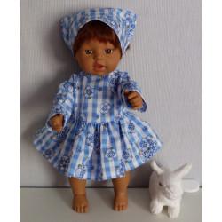jurk rozadotje blauw little...