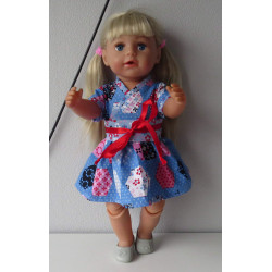 chineese jurk blauw baby...