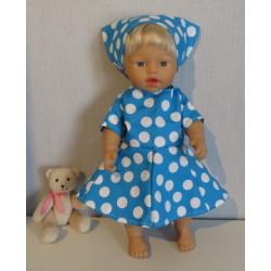 bloemjurk blauw polka dots...