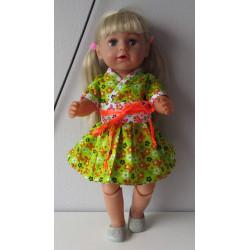 chineese jurk groen bloemen...