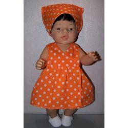 strandjurk oranje met polka...