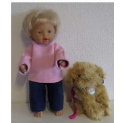 fleecepak roze blauw little...