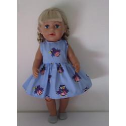 jurk blauw jet baby born 43cm