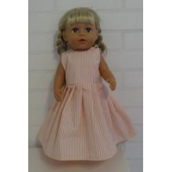 jurk roze gestreept lang...