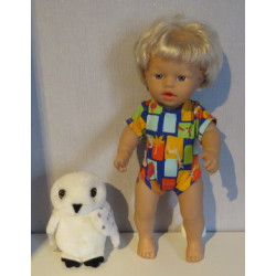 baby doll setje wit met...