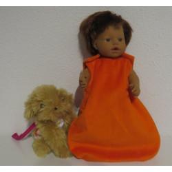 slaapzak oranje little baby...