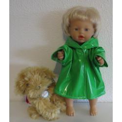 regenjas groen little baby...
