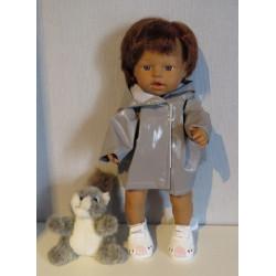 regenjas grijs little baby...