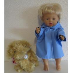regenjas blauw little baby...