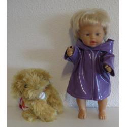 regenjas paars little baby...