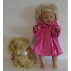 regenjas roze little baby...