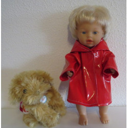 regenjas rood little baby...