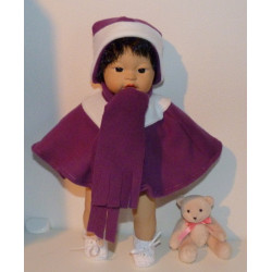 poncho paars little baby...