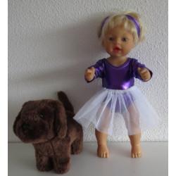 ballet setje paars little...