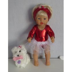 ballet setje rood little...