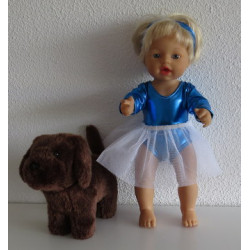 ballet setje blauw little...