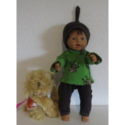 tricotpyjama groen apen...