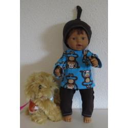 tricotpyjama blauw apen...