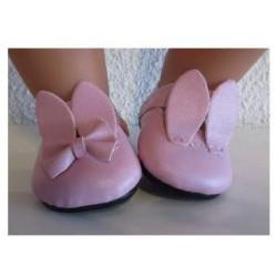 roze schoentjes baby borm 43cm