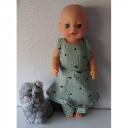 jurk groen baby born little...