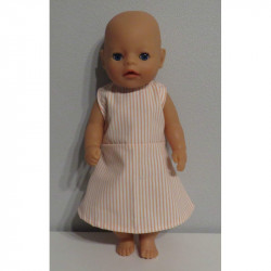 jurk gestreept roze baby...