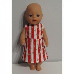 jurk rood gestreept met...