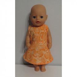 jurk oranje slagen print...
