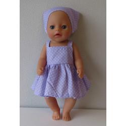 gehaakte jurk gekleurd met...