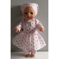 jurk roze thee   poppenmaat...