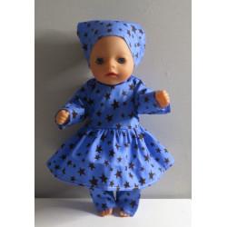 jurk blauw met hartjes...